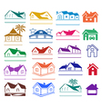 Buildings signs logo set vector image