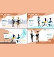 business online services web banners set vector image vector image