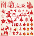 Christmas silhouettes pack vector | Price: 1 Credit (USD $1)