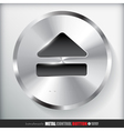Circle Metal Eject Button vector image vector image