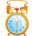 Classic gold color alarm clock isolated on white vector | Price: 1 Credit (USD $1)