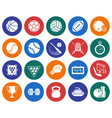 collection round icons sport vector image