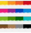 colorful paint border set with isolated vector image vector image