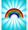 Colorful Rainbow Icon vector image vector image