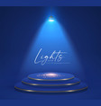 colorful spotlight and empty scene light effect vector image