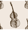 Contrabass sketch seamless pattern vector image vector image