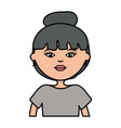 cute woman urban style character vector image