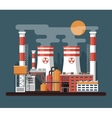 facade architecture nuclear power vector image