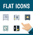 flat icon strongbox set of banking strongbox vector image vector image