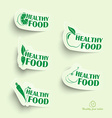 Healthy food icons vector image vector image