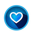 heart shape isolated blue icon vector image