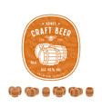 honey beer label and design elements vector image vector image
