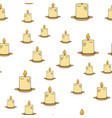 inflamed candles seamless pattern on white vector image vector image