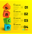 infographic geometric concept vector image vector image