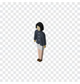 isolated guy isometric girl element can be vector image vector image