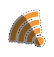 Isolated wifi symbol vector image vector image