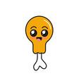 kawaii cute happy thigh chicken vector image