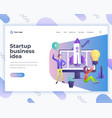 landing page template startup business ideas vector image vector image