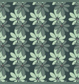leafy seamless pattern vector image