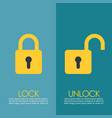 Lock and unlock infographic vector image