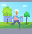 man on roller skates in park vector image vector image