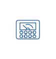 measurable indicatorsgauge line icon concept vector image vector image