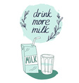 Milk graphic design with stylish milk box and vector image vector image
