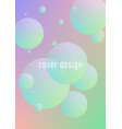 minimal shapes cover with holographic fluid vector image