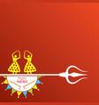 navratri and garba utsav greeting card vector image vector image