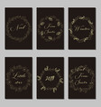 new year and merry christmas decoration set vector image vector image