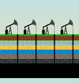 oil pumps and rig on sky background vector image vector image