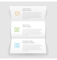 Open booklets letter design infographic template vector image
