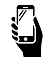 Phone in hand sign vector image vector image