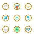 plumbing work icons set cartoon style vector image vector image