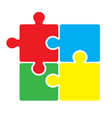 puzzle on a white background vector image