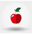 Red apple icon vector image