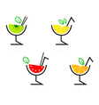 retro cocktail drinks vector image