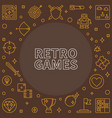retro games outline frame vector image