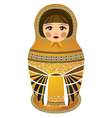 russian dolls yellov vector image