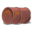 rusty metal barrel isolated on white background vector image