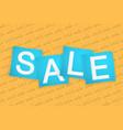 sale banners vivid promotion label square vector image