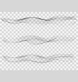 set abstract gray smoke wave transparent wave vector image