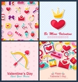 Set Beautiful Brochures with Traditional Objects vector image vector image