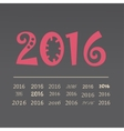 set happy new year 2016 design vector image vector image