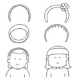 set of headband vector image