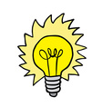shiny lightbulb vector image vector image