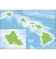 state hawaii vector image
