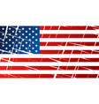 tattered flag of united states of america usa vector image