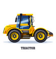 tractor or farm truck agriculture icon vector image