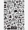 travel transportation doodles vector image vector image